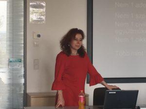EMVFE CSR Érettségi (2017. 09.29.30, Takács Júlia, az EMVFE elnöke, a CSR Hungary ügyvezető igazgatója)
